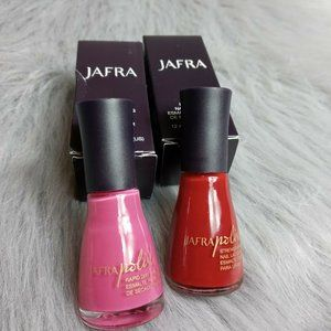 Jafra Pink And Red Nail Lacqr Set Of 2